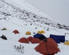 Day 16: High winds, negative temps, snow, broken tent poles and did we mention lots of snow?