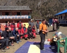 Day 11: Puja Ceremony at Ghunsa, SNOW and some Happy Birthday messages for home